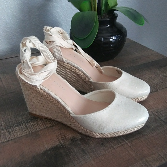 b3d0c5a41 Kelly & Katie Shoes   Kelly Katie Summer Lace Up Wedges   Poshmark